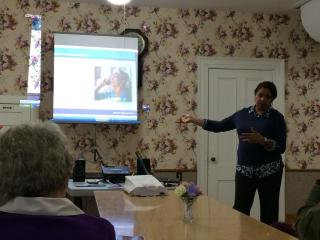 Marcia did a great presentation on Alzheimer's at the May meeting!